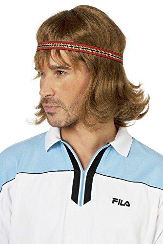Seventies Perücke Tennisspieler Hippie 70er 80er Jahre Hippieperücke Mottoparty