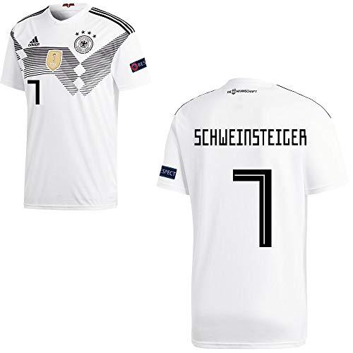 adidas Fußball DFB Deutschland Home Trikot WM 2018 Herren Schweinsteiger 7 mit Respekt Logo Gr S