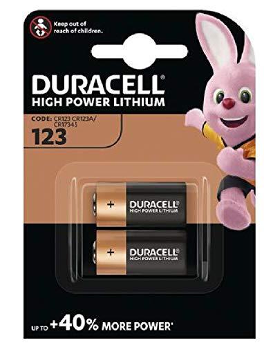 DURACELL CR123-C2 Foto-Lithium-Batterien, 2er-Packung