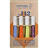 Opinel 1381 Coffret de 4 Couteaux d'Office N°112 Couleur Acidulée