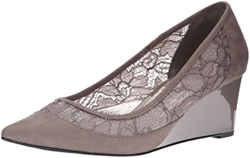 Adrianna Papell Langley Femmes Cuir Talons Compensés Graphite