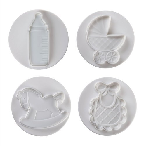 Pavoni 4 Piece Large Plunger Cutter Set - Baby Themed
