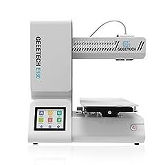 Idea Regalo - GEEETECH E180 Stampante 3D con funzione di pausa e ripresa della stampa, Touch Screen 3.2″a Colori