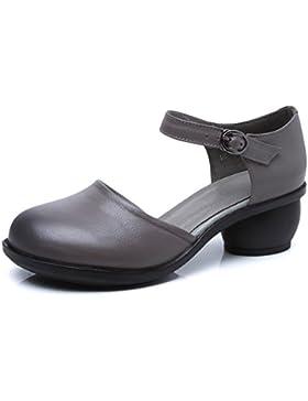 Donna Sandali Estate chunky tacchi scarpe donna