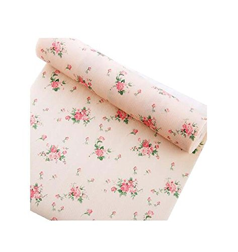 Home Moisture-Proof Pad Schublade Aufbewahrungsmatte, 500x30cm / 196.8x11.8 Zoll, Monatliche Rose