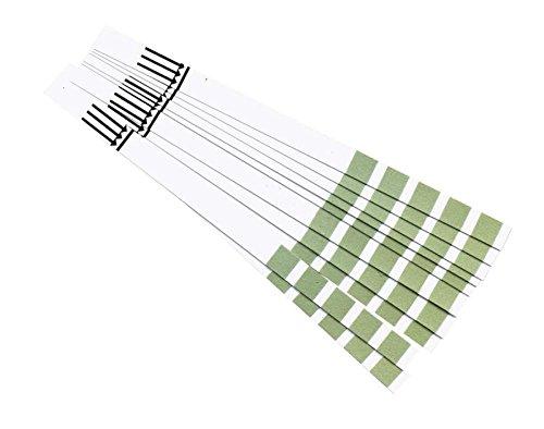 10 Stück Wasserhärtestreifen mit farbiger Skala zur Bestimmung der Wasserhärte Teststäbchen Indikatorpapier Kalk Teststreifen AQUADUR Härtetest -
