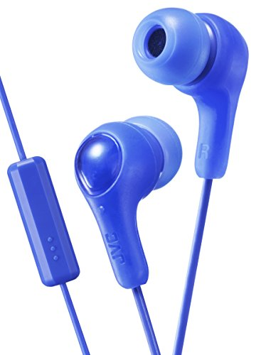 JVC HA-FX7M-A-E Gumy Plus In-Ear-Kopfhörer mit Mikrofon und Fernbedienung Blau (Jvc Gumy Blau)