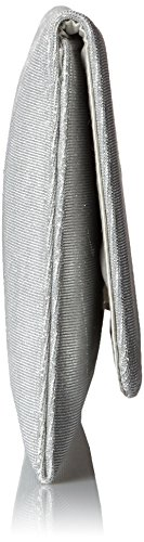 Paco Mena Damen Kinsasa Clutch, 31x15x2 cm Silber (Silber)
