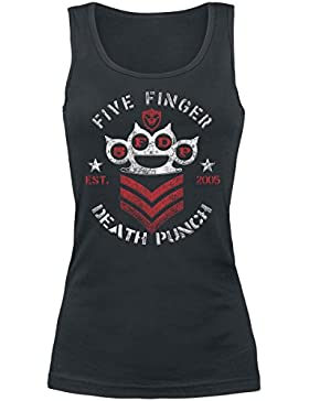 Five Finger Death Punch Chevron Top Mujer Negro