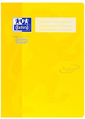 Oxford by ELBA 400103407 Schnellhefter aus festem Karton mit Soft Touch-Oberfläche für Format DIN A4 in der Farbe Gelb