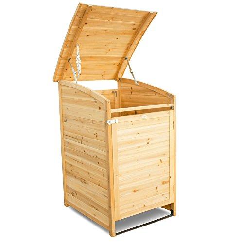 Habau Mülltonnenverkleidung Mülltonnenbox 120, Gelb, 65 x 75 x 115 cm - 4