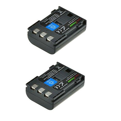 2x ChiliPower NB-2LH, NB-2L, BP-2L5, BP-2LH (900mAh) Batterie pour Canon EOS 350D, 400D, Digital Rebel XT, XTi, PowerShot G7, G9 , S30, S40, S45, S50, S60, S70, S80, DC410, DC420, VIXIA HF R10, HF R100, HF R11, Kiss Digital N, Canon Optura 30, 50, 60, 40, 400, 500, Canon Elura 60, 50, 65, 70, 80, 85, 90, 40mc, Canon ZR-200