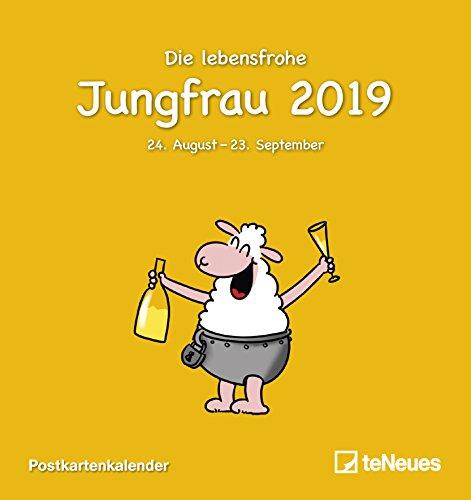 Sternzeichen Jungfrau 2019 - Sternzeichenkalender, Horoskop, Astro, Postkartenkalender 2019  -  16 x 17 cm