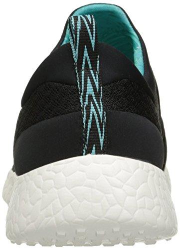 Skechers Femmes Noir Sport Burst Basket Black-Turquoise