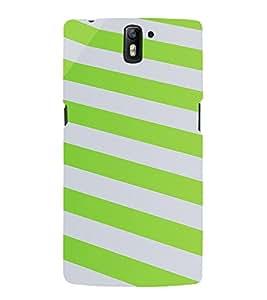 PrintVisa Stripes Pattern 3D Hard Polycarbonate Designer Back Case Cover for One Plus One