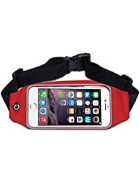Running Belt (Multiple Colour), Outdoor Waist Packs Bags Unisex Sport Running, Waistband Travel Belt Compatible...