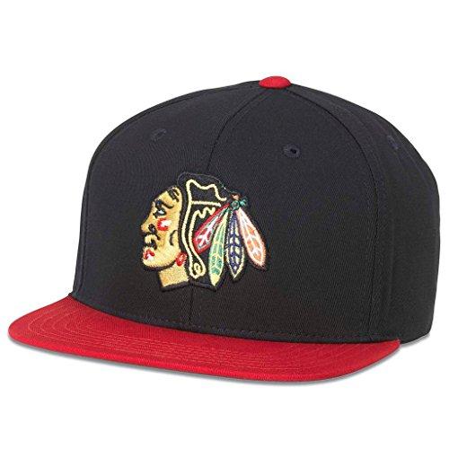 American Nadel NHL Heimspiele Retro Flach Krempe Snapback Cap, Herren, Schwarz/Red, Einstellbar -
