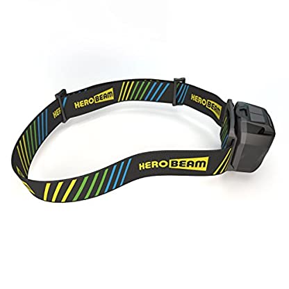 HeroBeam® Ultimate Head Torch – USB Rechargeable Headlamp for Running, Dog Walking, Biking, Camping, Reading, Homecrafts, Cycling or DIY – Hands Free ON/OFF Mode - Lightweight and Weatherproof 2