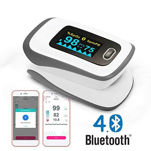 DOOKK Fingertip Pulsoximeter ip Sauerstoffmonitor Bluetooth Easy Carry Fingertip O2-Sättigungsmonitor für das Gesundheitswesen -