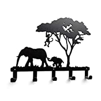 Joeesun Creative Iron Hook Elephant Giraffe Wall Hook Robe Coats Bathroom Hooks Home Accessories Kitchen Hanger