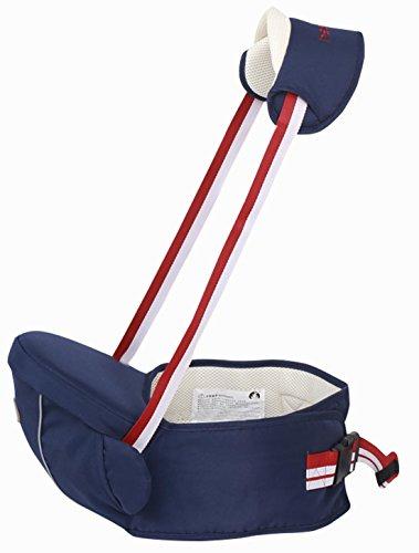 Gabesy Baby Multifunktion Hüfttrage Hüftsitz mit Träger Hipseat Tragehilfe Kleinkind Taille Hocker Leicht Babytrage Bauchtragen - Dunkelblau