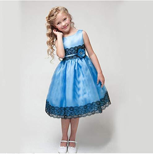 Yilaku Vestido Vintage Estampado de Niñas Años para Fiesta Cóctel Vestido Algodón de Verano sin Mangas 2