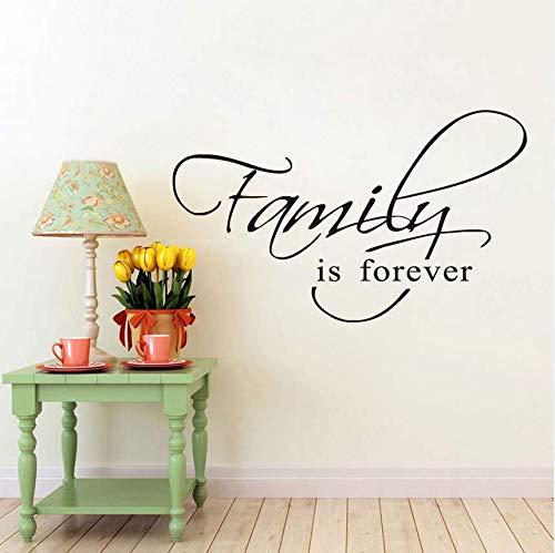 Qthxqa Familie Ist Für Immer Wandkunst Aufkleber Zitat Wörter Schriftzug Dekor Aufkleber Wandtattoos Wohnkultur Zimmer Decoration44 * 27