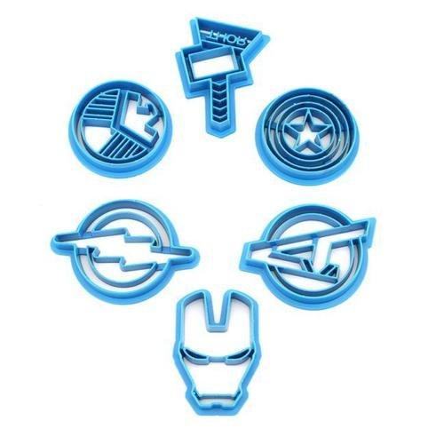Superhelden-Ausstechformen der Avengers (Hulk, Ironman, Thor, usw.)