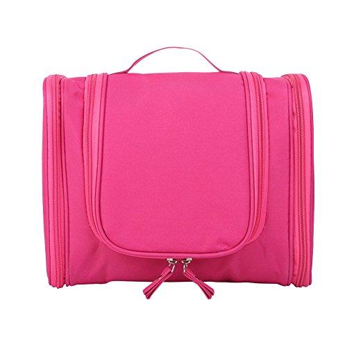 Viaggi Toilette Borsa Trucco Cosmetico Portatile Organizzatore e Rasatura Kit Uomini Caso Cosmetico Hanging Bagno e Grooming Kit bagagli Rosa