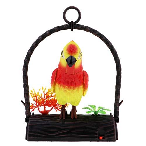 Fenteer Kunstoff Sound Aktiviert Papagei Vogel Vögel Spielzeug Geschenk für Kinder