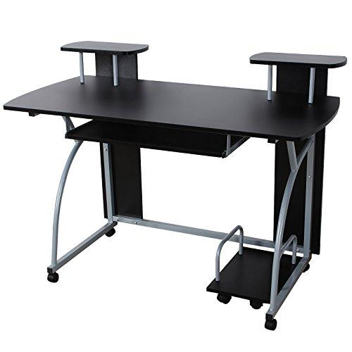 VASAGLE Escritorio de la Computadora, Mesa de Ordenador, con Portateclado, Diseño Moderno,...