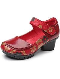 Gracosy Ballet Flats Merceditas Low Bombas de tacón medio para mujer Zapatos de satén para boda Zapatos de noche de cuero Mocasines Zapatos de mujer para la primavera y el verano Zapatos ocasionales