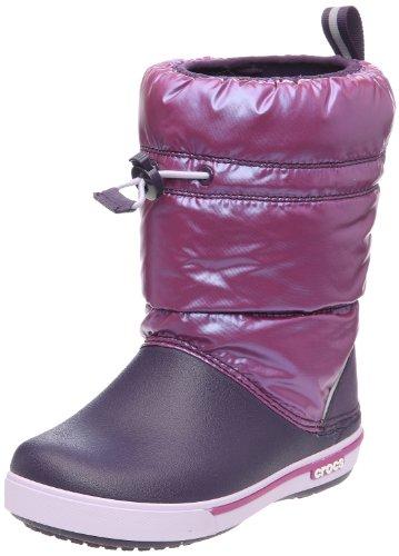 Crocs Crocband(TM) Iridescent Gust Boot Kids, Boots mixte enfant Violet (Viola/Mulberry)