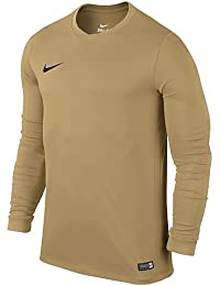 Nike Ls Yth Park VI Jsy Camiseta, Niños, Amarillo / Negro (Jersey Gold / Black), XL
