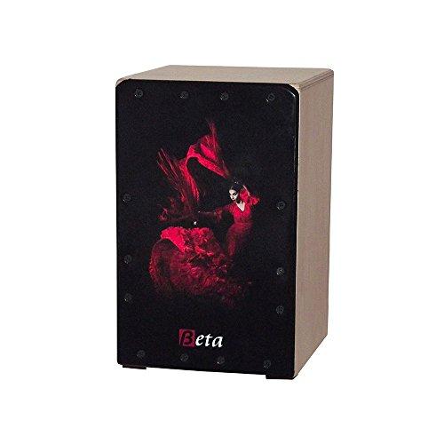 Cajón Flamenco Beta mod. 'FLAMENCA' - Tamaño mini. Caja de percusión para niños con golpeador personalizado
