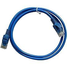 1m 3pies Azul RJ45Ethernet Cable para Cat5e para Internet red CAT5Ethernet LAN Cable de Cable para ordenador portátil