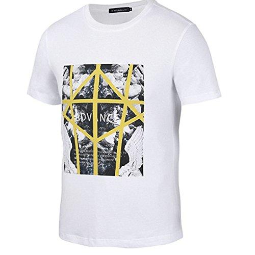 Yonbii Sommer populäres DIY weißes T-Stück 3D Grafik-Mann-Frauen-Baumwollt-shirt Undershirts-Schweiß-Oberseite Beige