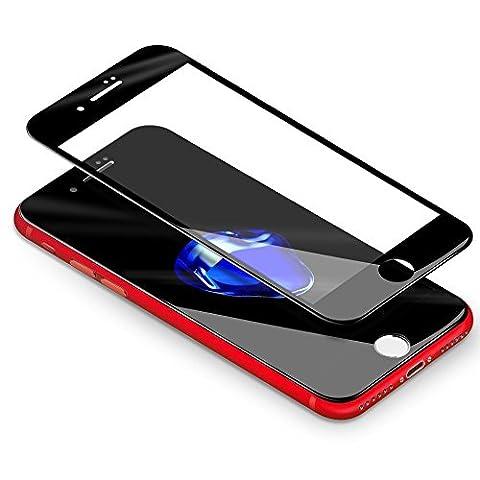 MM-Mobitec - Apple iPhone 7 PLUS Voll abdeckende 4D Panzerglas in Schwarz 9H Schutzfolie Displayglas Extra Schutz Glasfolie - Force Touch Kompatibel