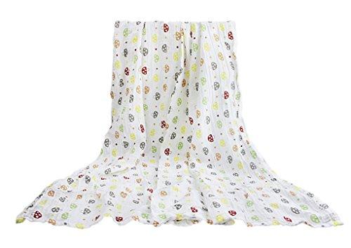Baby Einschlagdecke für Babyschale Babydecke zum Einwickeln Sommer Weiche Baumwolle Wickeldecke Warm Wickelsack 115x115CM für Neugeborenes Baby Mädchen Jungen-Pilz-Aufdruck