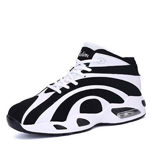 Herren Sportschuhe Atmungsaktiv Basketball Schuhe Mode Laufschuhe Rutschfest Turnschuhe Ausbilder GRÖSSE 36-44 , white , 41