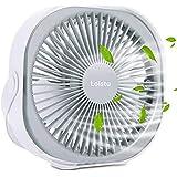 Equipé D'Une Dragonne, D'Une Rotation à 360 ° Et D'Un Ventilateur De Bureau Silencieux Portable RéGlable à 3 Vitesses, Utilis
