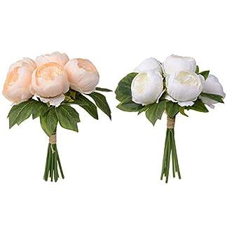 raninnao 6 UNIDS Peonía Artificial De Plástico Seda Flor Simulación Bouquet Arreglos Ramos De Boda Decoraciones Florales Centros De Mesa para El Hogar Boda Jardín Fiesta Decoración Ordinary