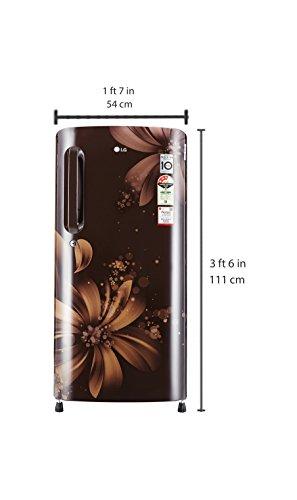 LG 190 L 3 Star Direct-Cool Single Door Refrigerator (GL-B201AHAW.AHAZEBN, Hazel Aster)