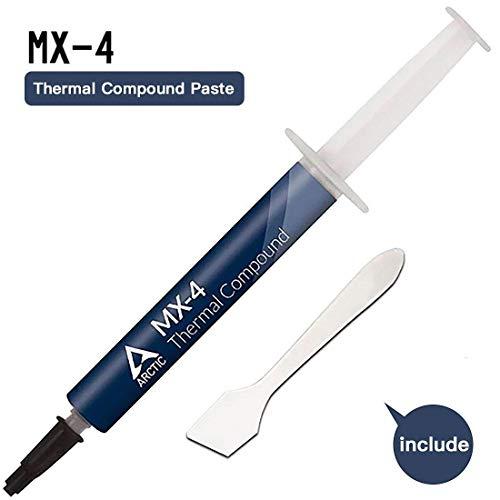 Arctic MX-4 Compuesto térmico de micropartículas de Carbono, Pasta térmica para Cualquier Ventilador de CPU - 4 Gramos (con la Herramienta)