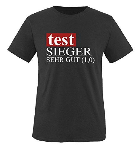 TEST SIEGER - SEHT GUT... Herren Fun T-Shirt Schwarz Gr. L