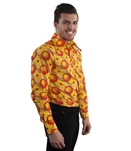 70er Jahre Party Hemd Dots orange Orange