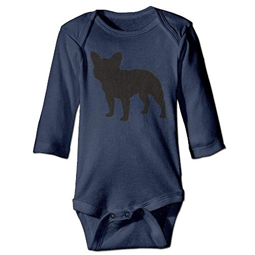 VTXWL Unisex Infant Bodysuits French Bulldog Boys Babysuit Long Sleeve Jumpsuit Sunsuit Outfit Navy