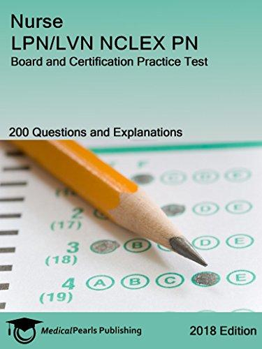 nurse lpn/lvn nclex pn: board and certification practice test ebook ...