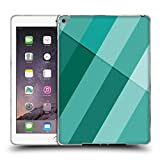 Head Case Designs Offizielle PLdesign Cyan Modern Geometrisch Soft Gel Hülle für iPad Air 2 (2014)