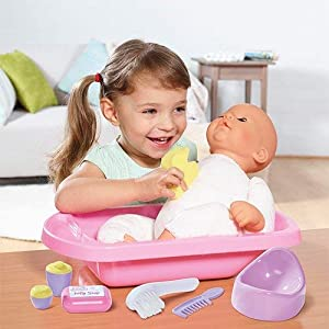 Casdon 711 Baby Huggles Dolls Bath & Potty Set for Dolls Upto 40cm